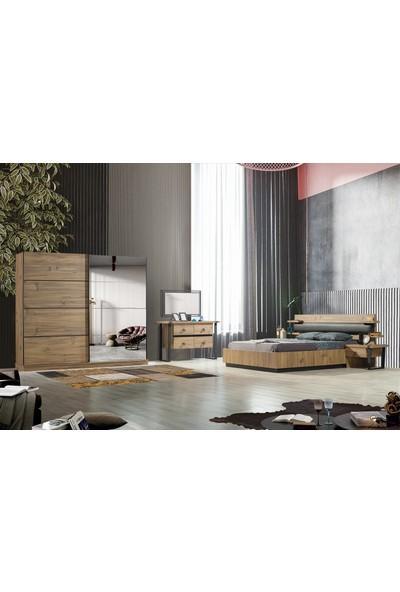Feyza Mobilya Mia Bazalı Yatak Odası Takımı