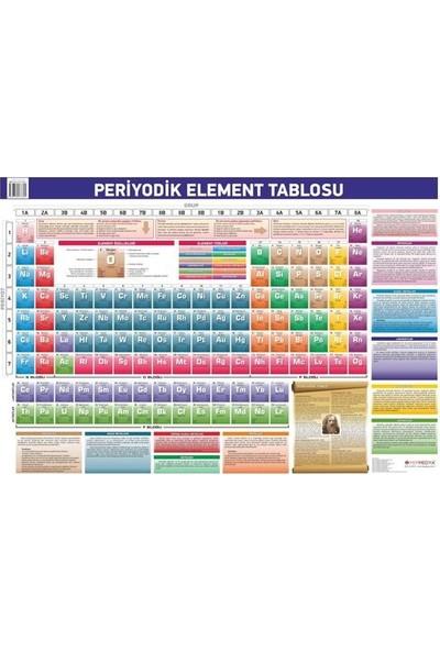 Mepmedya Yayınları Kimya Elementler Tablosu Periyodik Cetvel 70 x 100 cm