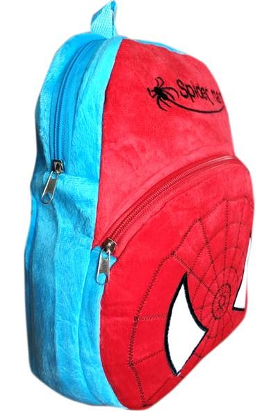 Redpoloshop Anaokulu Sırt Çantası Çocuk Peluş Yumuşak Spiderman