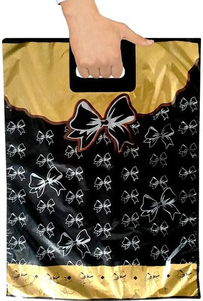 Takviyeli Poşet Fiyonklu Siyah 33X45 (5 PAKET:250 Adet)