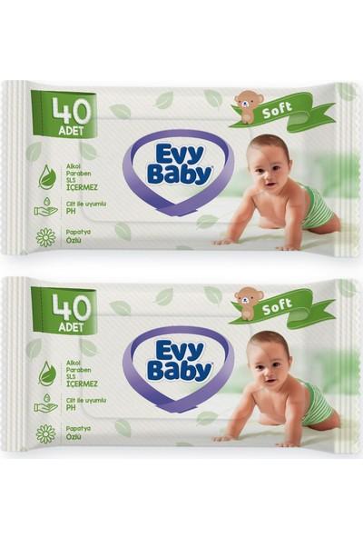 Evy Baby Bebek Bezi 3 Numara Midi 180'LI + 2 Paket Islak Havlu