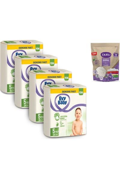 Evy Baby Bebek Bezi 5 Beden Junior 4'lü Fırsat 96'lı Granül Sabun 400 gr