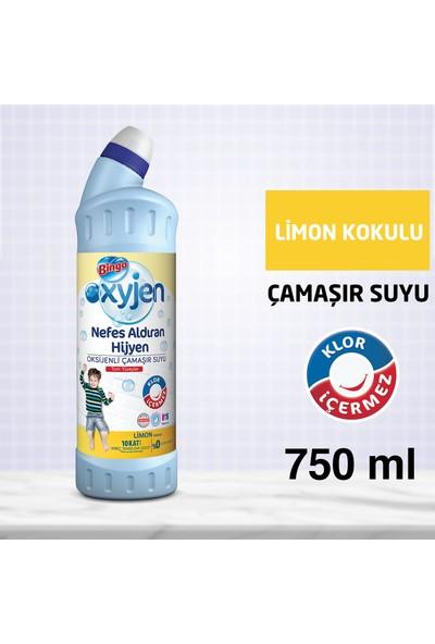 Bingo Oksijen Çamaşır Suyu Limon Kokulu 750 ml