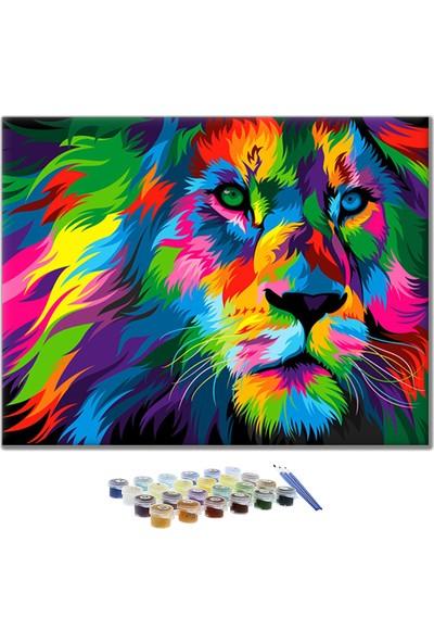 Sayılarla Boyama Seti -Renkli Aslan