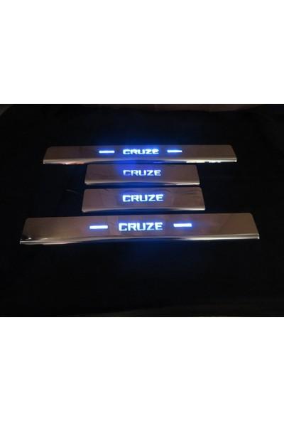 Başkent Oto Chevrolet Cruze Hb Krom Işıklı Kapı Eşiği 4 Parça 2009 Üzeri