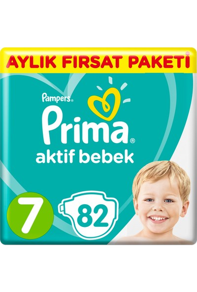 Prima Aktif Bebek 7 Bed XX Large Aylık Fırsat Paketi 82 Adet