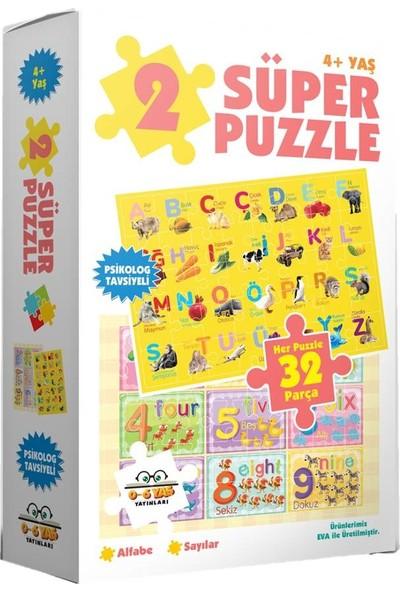 0-6 Yaş Yayınları 2 Süper Puzzle - Alfabe + Sayılar