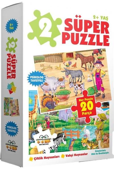 0-6 Yaş Yayınları 2 Süper Puzzle - Çiftlik Havananları + Vahşi Havanlar