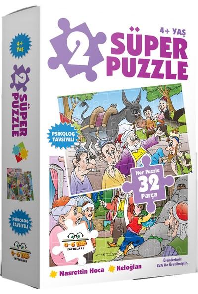 0-6 Yaş Yayınları 2 Süper Puzzle Nasrettin Hoca Keloğlan 4+ Yaş