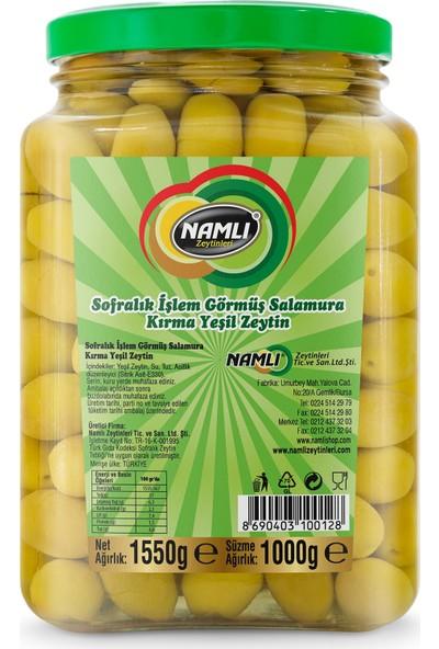 Namlı Zeytinleri Domat Kırma Yeşil Zeytin - 1 kg