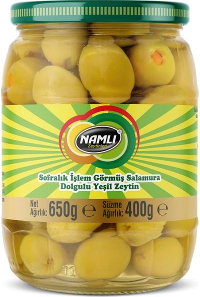 Namlı Zeytinleri Portakal Dolgulu Yeşil Zeytin - 400 gr