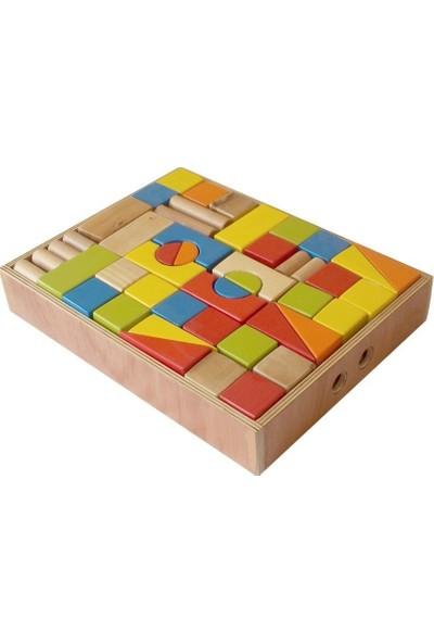 Edu Dizayn Büyük Ahşap Renkli Bloklar