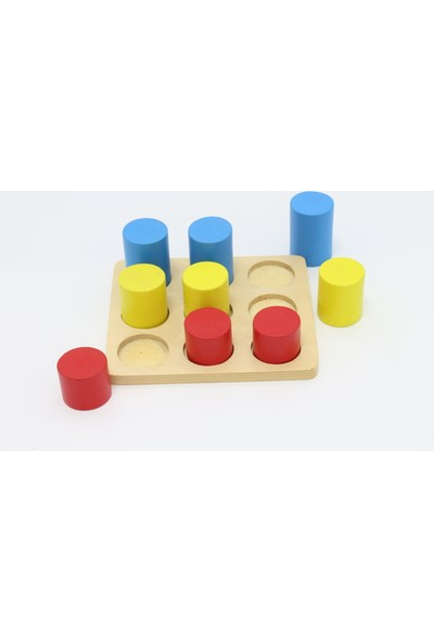 Edu Dizayn Ahşap Renkli Silindir Bloklar