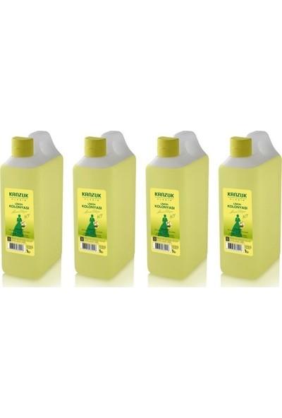 Kanzuk Limon Kolonyası 80 Derece 1 lt 4'lü
