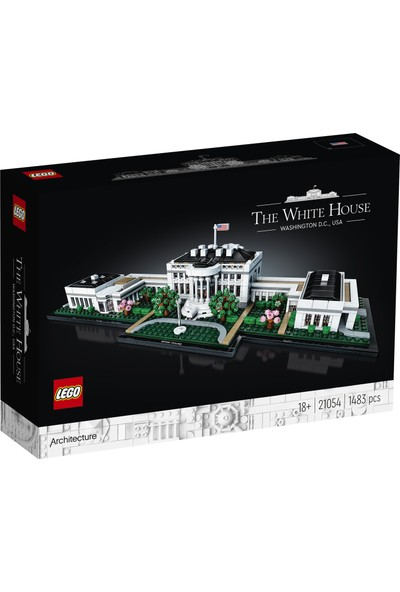 LEGO® Architecture Koleksiyonu: Beyaz Saray 21054 Yapım Seti (1483 Parça)