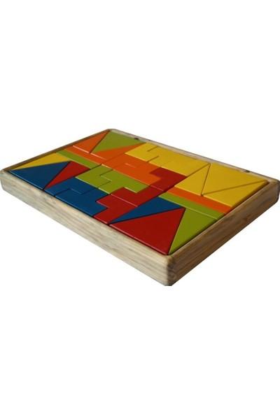 Edu Dizayn Ahşap Renkli Bloklar