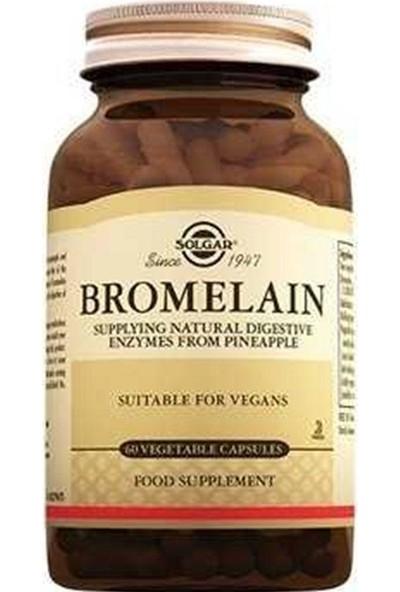 Solgar Bromelain Takviye Edici Gıda 150 mg 60 Kapsül
