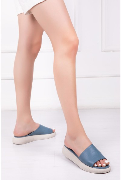 Deripabuç Deri Kadın Deri Sandalet DP-1843