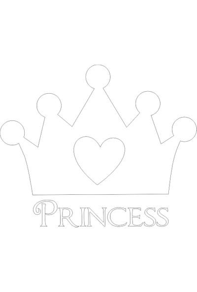 Dnart Çocuk Duvar Sticker - - Kapı Sticker Prenses DNART-STC0294 38 x 32 cm