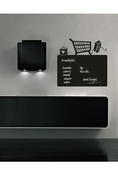 Dnart Yazılabilir Yapışkanlı Kara Tahta Sticker - Alışveriş Listesi Dnart-Cstc0155 55 x 52 cm