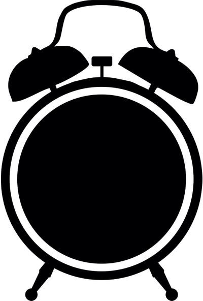 Dnart Yazılabilir Yapışkanlı Kara Tahta Sticker - Çalar Saat Dnart-Cstc0190 26 x 38 cm