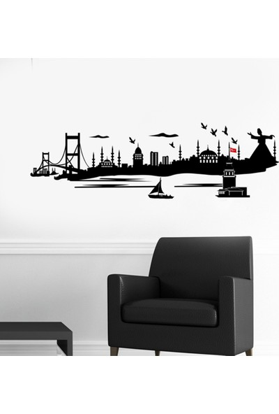 Dnart Duvar Sticker - Istanbul Dnart-Stc0268 115 x 40 cm