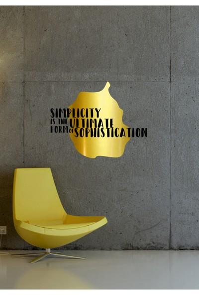 Dnart Altın Varaklı Sticker - Simplicity Goldst-00126 58 x 46 cm