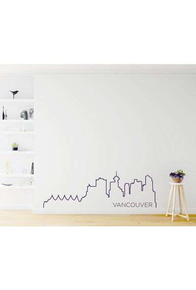 Dnart Dünya Şehirleri Çizgisel Duvar Sticker - Vancouver Slıne-Stıcker041 116 x 38 cm