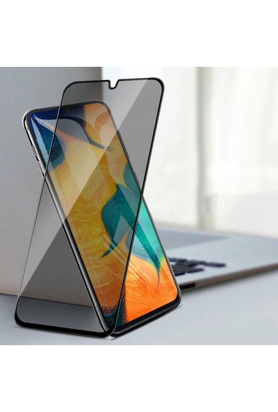KNY OPPO A5 2020 5D Privacy Cam Ekran Koruyucu Siyah