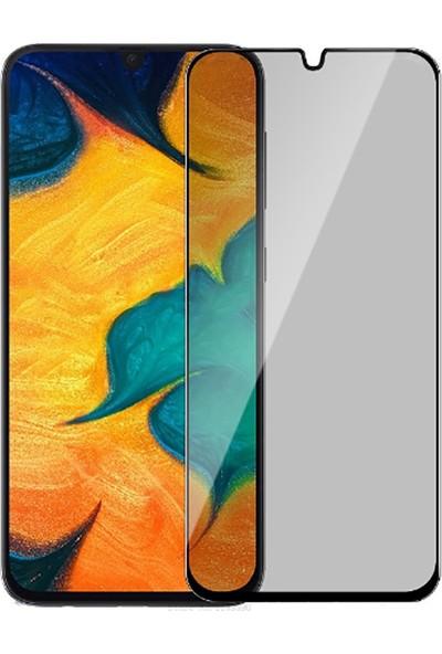 KNY Samsung Galaxy A10S 5D Privacy Cam Ekran Koruyucu Siyah
