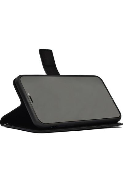 KNY Samsung Galaxy S20 Plus Kılıf Kapaklı Cüzdanlı Standlı Suni Deri Delux Siyah