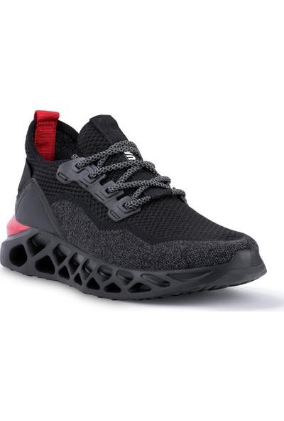 Jump Siyah - Kırmızı Erkek Spor Ayakkabı 24757