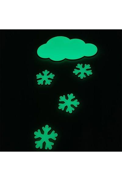 Faami Style Fosforlu Bulut + 4 Adet Kar Tanesi