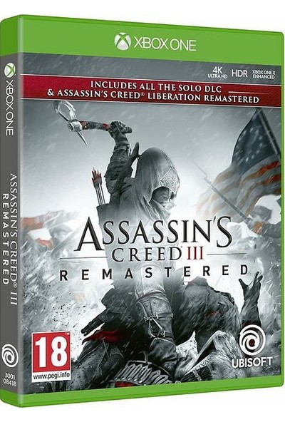 Assassin's Creed III Remastered Xbox One Oyun