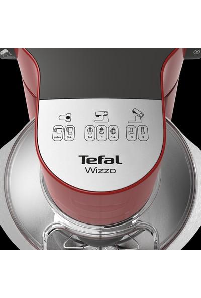 Tefal QB317538 Wizzo Mutfak Şefi 1000 Watt + Full Aksesuar Kırmızı - 2820317538