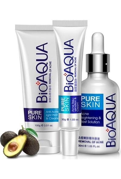Bioaqua Pure Skin Akne Sivilce ve Iz Karşıtı Cilt Bakım Seti 3 Parça