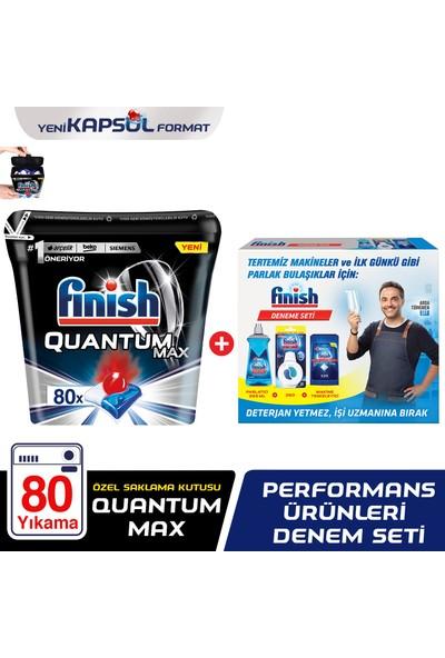 Finish Quantum Max 80 Tablet Bulaşık Makinası Deterjanı +Finish Performans Ürünleri Deneme Seti