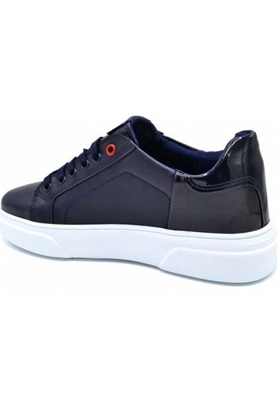 L.A Polo Mrd 8100 Lacivert Beyaz Erkek Spor Ayakkabı