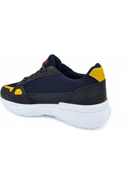 L.A Polo Mrd 105 Lacivert Sarı Beyaz Erkek Spor Ayakkabı
