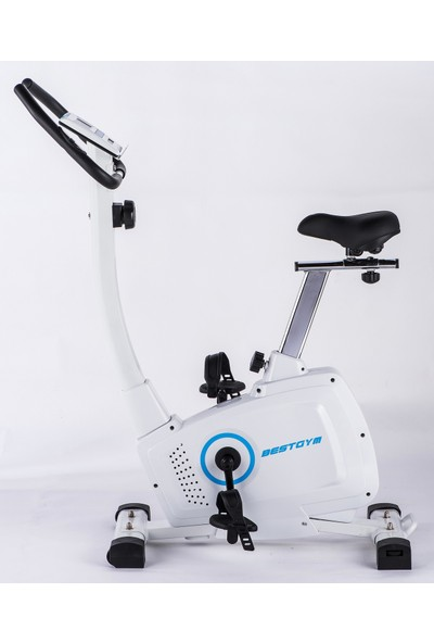 Bestgym Dynamic Best Manyetik Dikey Bisiklet Beyaz