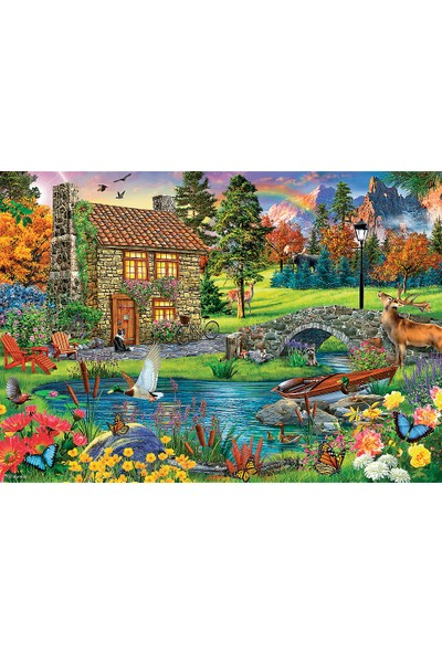 Trefl Cottage In The Mountains Puzzle 6000 Parça