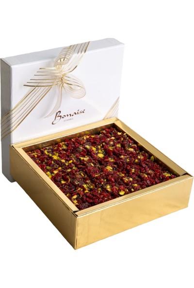 Bonaise Gül Yapraklı Narlı Fıstıklı Lokum 600 gr