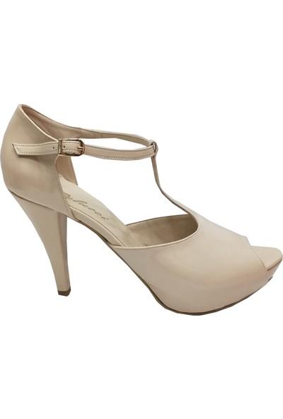 Pelucci 652 Platform Topuklu Tokalı Kadın Sandalet