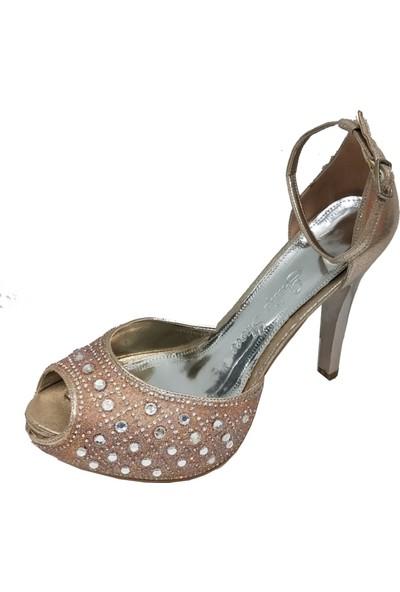Smilee 4300 Platform Topuklu Kadın Abiye Ayakkabı