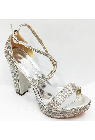 Smilee 4720 Platform Topuklu Kadın Abiye Ayakkabı