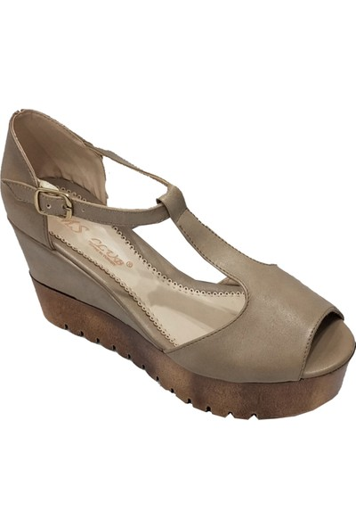 SMS 1719 Dolgu Topuklu Kadın Sandalet