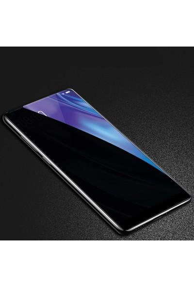 Happyshop Huawei Y9 Prime 2019 5D Privacy Cam Ekran Koruyucu Siyah