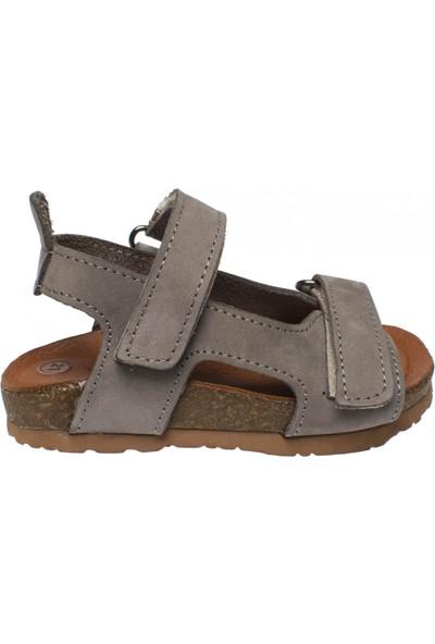 Piarmoni Msm Trend Sandals 2096 Deri Gri Çocuk Sandalet