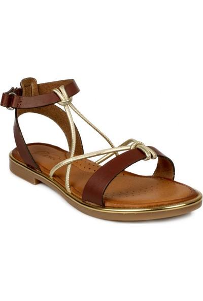 Piarmoni Msm Trend Sandals 2304 Cırtlı Kahverengi Çocuk Sandalet