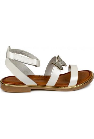 Piarmoni Msm Trend Sandals 2314 Cırtlı Beyaz Çocuk Sandalet